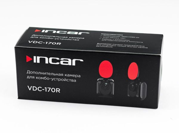 Видеорегистратор INCAR SDR-170  с сигнатурным радар детектором и GPS информатором + дополнительная камера